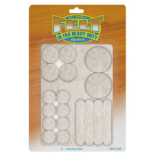 Slipstick Heavy Duty Felt Pads - 37 Piece Assortment Pack
