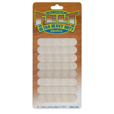 Slipstick Heavy Duty Felt Pads - 1/2 Inch x 2 5/8 Inch
