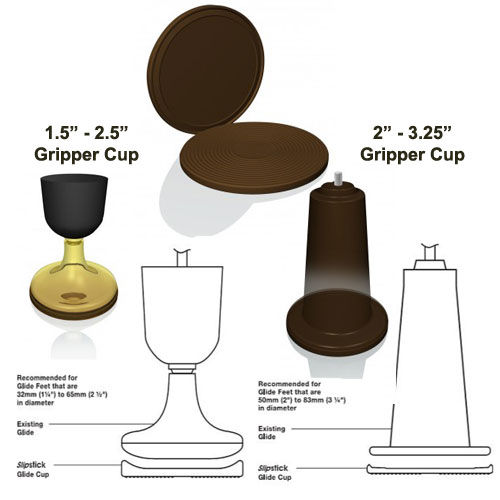 Slipstick Glide Cups Small and Large