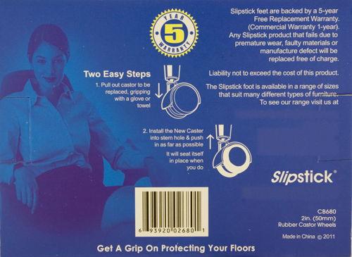 Slipstick Rubber Castor Wheels - Back Box