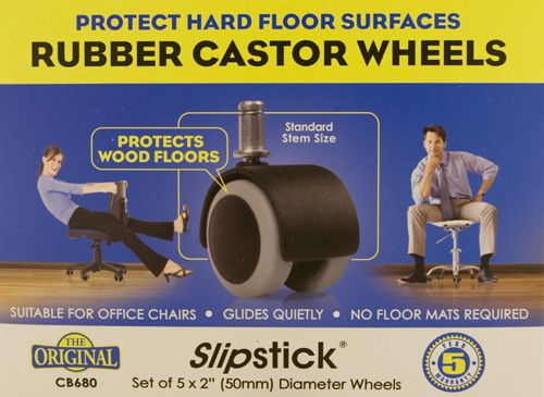 Slipstick Rubber Castor Wheels - Front Box