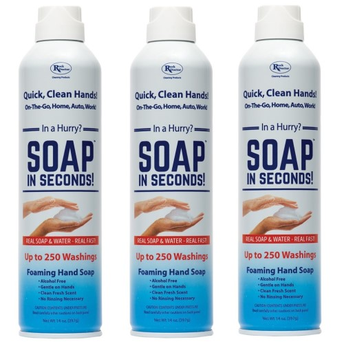 Soap in Seconds 3 Pack