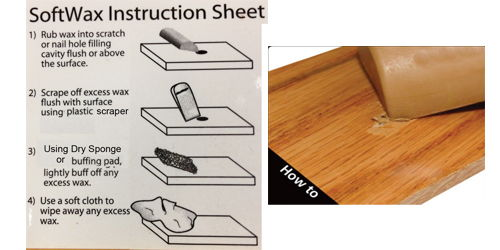 How to fill scratches in hardwood and laminate floors - Softwax