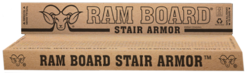 Ram Board Stair Armor to protect your hard surface