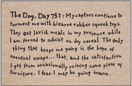 Funny Dog Themed Mat - The Dog, Day 751