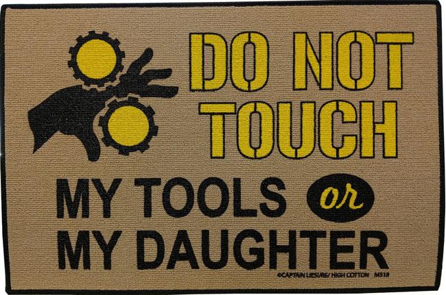 Garage Mat - Do Not Touch