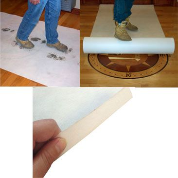Tuf-Guard tearproof and breathable floor protection allows vapor transmission