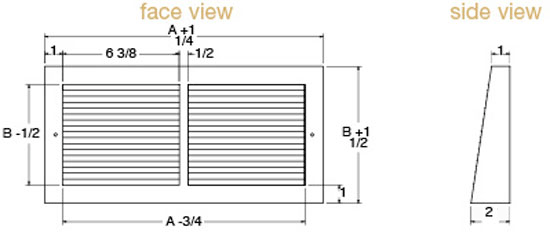 Projection Grill Technical Drawing