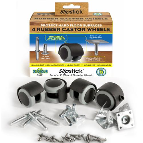 Universal Attachment Castor Wheel Rubber Furniture Wheel