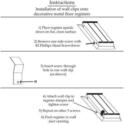 Wall Clip Instructions