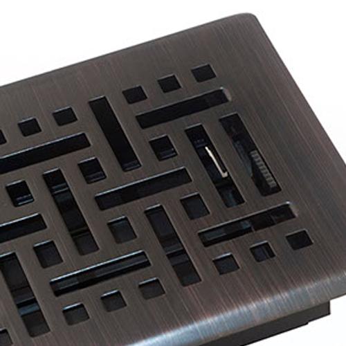 Wicker Oil Rubbed Bronze Floor Register