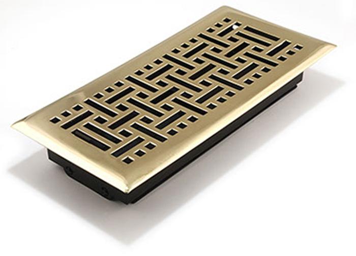 Polished Brass Wicker Register