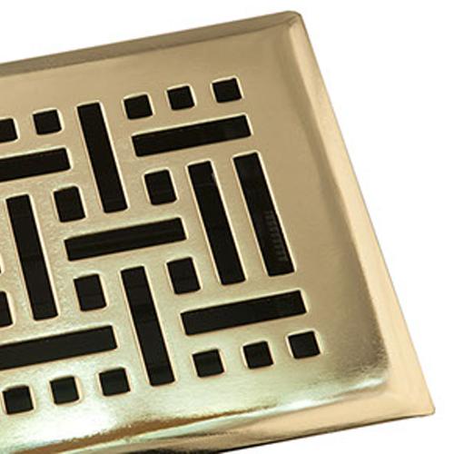 Plastic Damper Decorative Floor Register