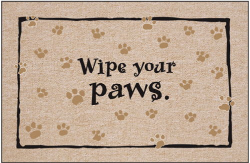 Pet Welcome Mat - Wipe Your Paws
