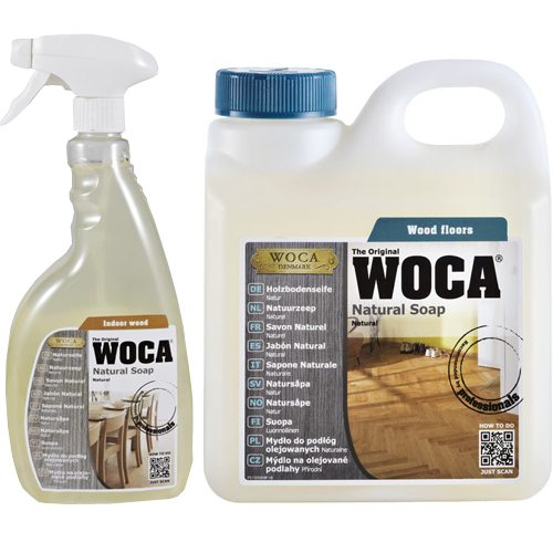 Woca Natural Soap Natural Color Oiled Wood Floor Care