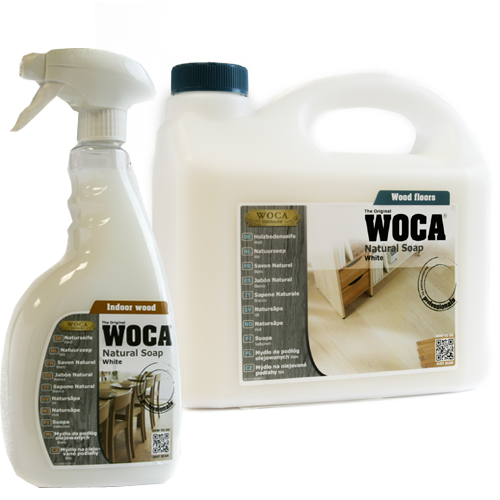 Woca Natural Soap White Color - Oiled Wood Floor Care