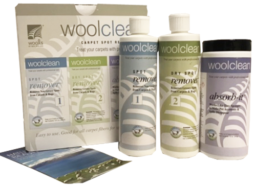 WoolClean Carpet Spot Removal Kit - Cleaning Wool Carpet
