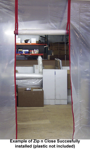Zipper Entrace for Dust Containment Plastic