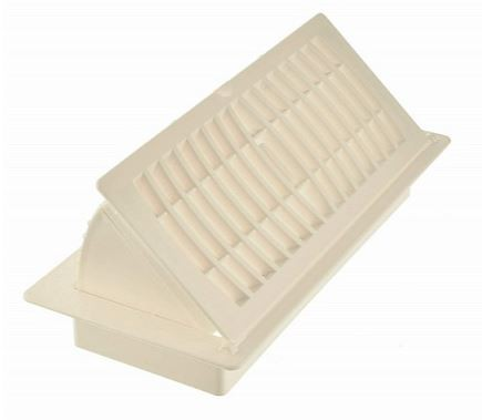 Imperial Plastic Pop To Open Floor Register - Almond