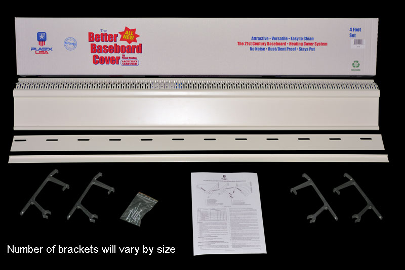 Cover Luxe Plastic Hot Water Baseboard Replacement Covers