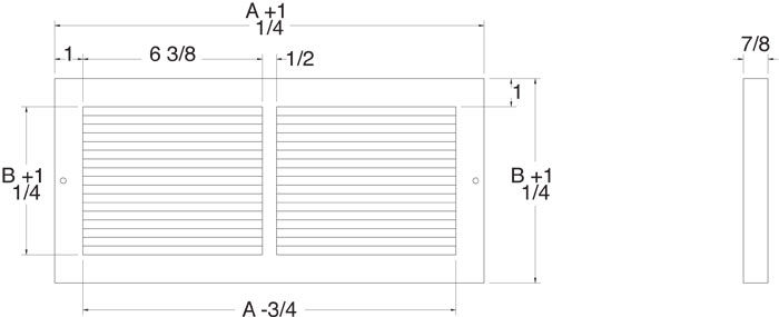 Baseboard Grill Technical Drawing