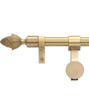 Zoroufy Grand Regency Wall Hanger Brushed Brass w/ Pineapple Finial