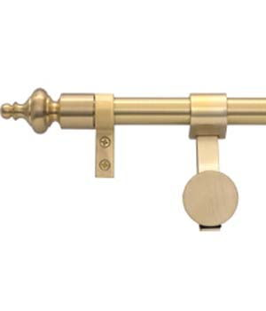Zoroufy Grand Regency Wall Hanger Brushed Brass w/ Urn Finial