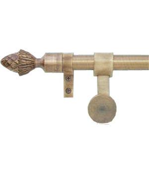 Zoroufy Grand Regency Wall Hanger Antique Brass w/ Pineapple Finial