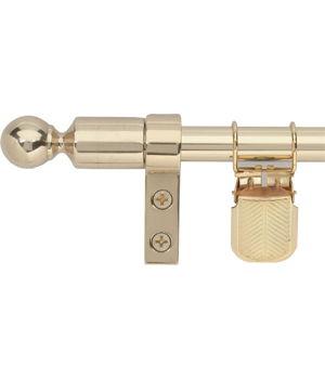 Zoroufy Regency Wall Hanger Polished Brass w/ Ball Finial
