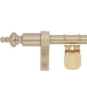 Zoroufy Regency Wall Hanger Brushed Brass w/ Urn Finial