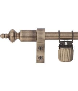Zoroufy Regency Wall Hanger Antique Brass w/ Urn Finial