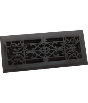Zoroufy Decorative Antique Black Floor Register