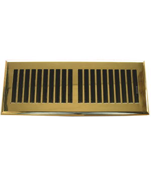 Polished Brass Plated ABS Resin Floor Register