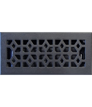 Cast Iron Marquis Floor Register w/ Pewter Finish
