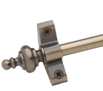 Plated Antique Brass Stair Rod with Urn Finial