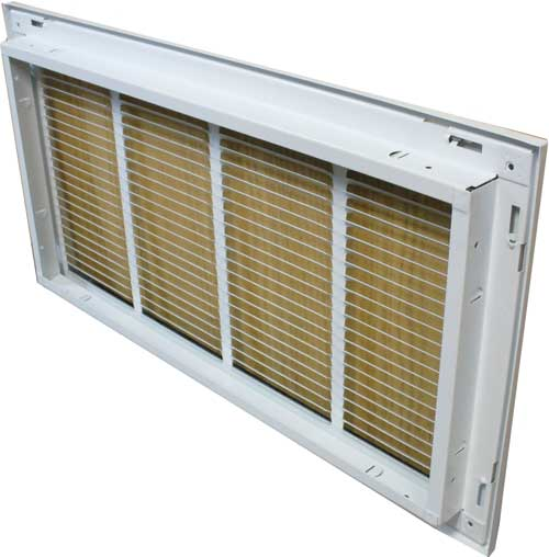 Filter Return Air Grille : White return air filter grille wall and ceiling vents