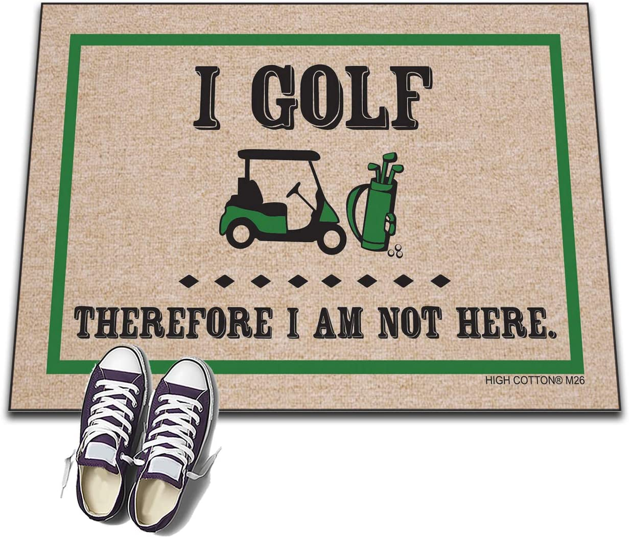 Golf Themed Doormat - I Golf Therefore I am Not Here