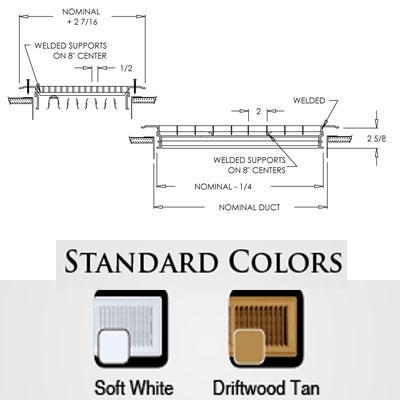 Heavy Duty Floor Registers 1600R-0 Shoemaker