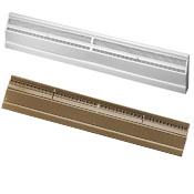 White or Golden Sand Metal Baseboard Register 48 Inches Long