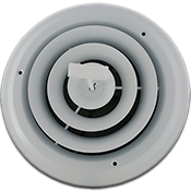 8 Inch White Round Ceiling Register