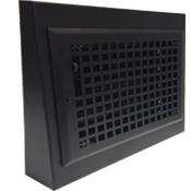 Black Gravity Baseboard Register - Decorative Baseboard Diffuser