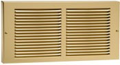 Brass Plated Baseboard Return Grill