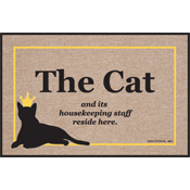 The Cat and Its Housekeeping Staff Mat