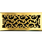 Charleston Polished Brass Floor Register