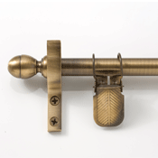 Zoroufy Classic Wall Hanger Antique Brass - Acorn Finials