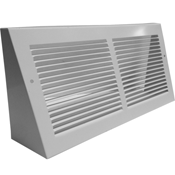 White Triangular Baseboard Return Grill