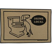 Dog Welcome Mat - Drink Local