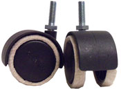 Feltac Casters with Threaded Stem