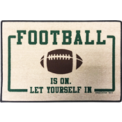 Football Is On - Outside Door Mat