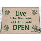 Welcome Mat: Someone Left the Gate Open